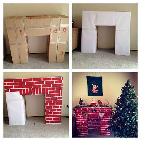 Cardboard-Christmas-Fireplace
